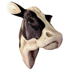 Gifts and Accessories 3D Cow Glitter Head Wall Decor