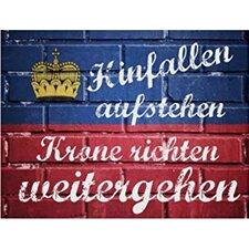 """Schild """"Hinfallen"""", Typographische Kunst"""