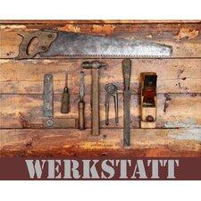 """Schild """"Werkstatt"""", Grafische Kunst"""