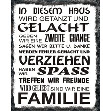 """Schild """"In diesem Haus"""", Typographische Kunst"""