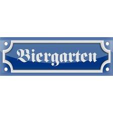 """Schild """"Biergarten"""", Typographische Kunst"""