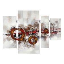 4 tlg. Gemälde Abstrakte Kunst