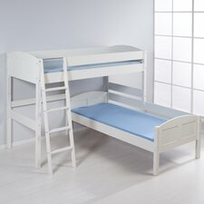 European Single L-Shaped Bunk Bed