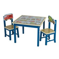 Travel A the World Children's 3 Piece Table and Chair Set