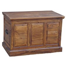 Kerala Sheesham Wooden Panel Small Blanket Box