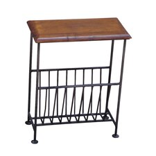 Ganga Sheesham Kerala Iron Magazine Rack