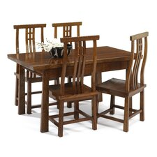 Asian Contemporary Dining Table and 4 Chairs