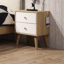 Curacao 2 Drawer Bedside Table