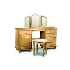 Woodward 5 Drawer Twin Pedestal Dressing Table Set