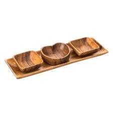 4-tlg. Dipschalen-Set Caraz aus Holz