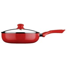 Ecocook Induction Compatible Non-Stick Saute Pan with Lid