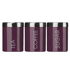 Liberty Tea, Coffee and Sugar Canister Set with Lids
