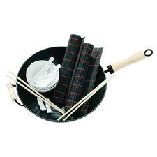 11 Piece Non-Stick Carbon Steel Wok Set