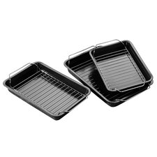 6 Piece Non Stick Roasting Tray & Rack Set