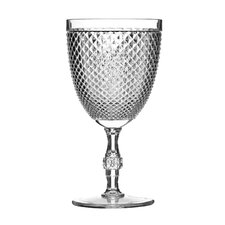 Plastic Clear Diamond Wine Glass (Set of 4)