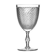 Plastic Clear Diamond Wine Glass (Set of 4)