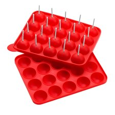 Rectangular Silicone Cake Pop Mould in Red