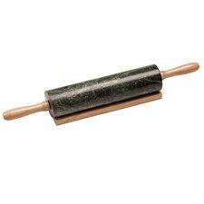 46 cm Nudelholz mit Holzgriffen und Ablage