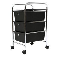 Utility Cart with 3 Drawers