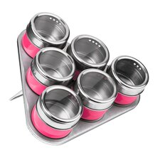 6 Piece Spice Jar Set with Tray