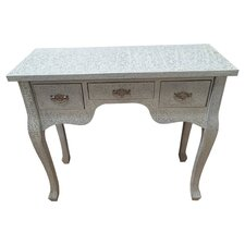 Decorative Furniture Repousse 3 Drawer Dressing Table