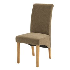 Taberna Solid Oak Upholstered Dining Chair (Set of 2)