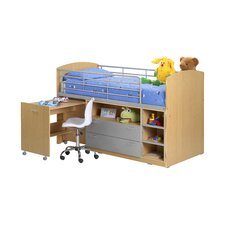 Zodiac Single Mid Sleeper Bed with Storage