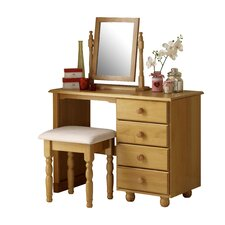 Woodward 4 Drawer Single Pedestal Dressing Table