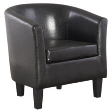 Lateal Leather Tub Chair