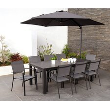 Elms 8 Seater Dining Set with Parasol