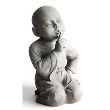 Statue Child Monk Tacitly