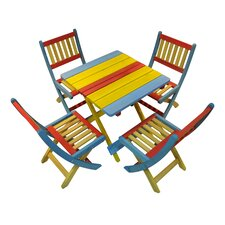 Rainbow Children's 4 Piece Table and Chair Set