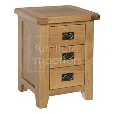 Nachttisch Inisraher mit 3 Schubladen