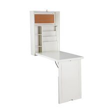 Floating Desk with Hutch