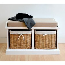 Tanya Wood Storage Entryway Bench