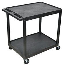 Multi Purpose Utility Cart with 2 Shelves