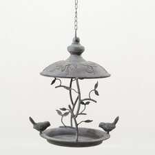 Hanging Bird Feeder in Grey