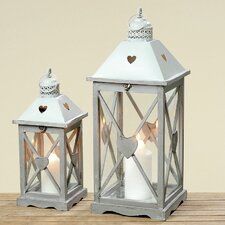 Holly 2 Piece Lantern Set