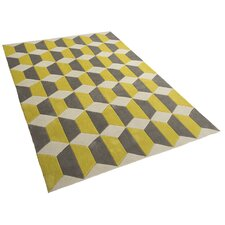 Teppich Sorcha in Grau/ Gelb