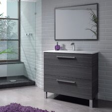 Urban 80cm Single Vanity Set with Mirror