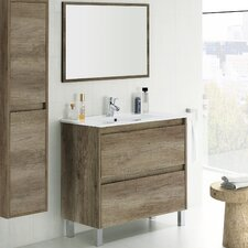 Dakota 80cm Single Vanity Set with Mirror