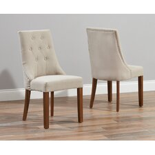 Maryknoll Solid Oak Upholstered Dining Chair (Set of 2)