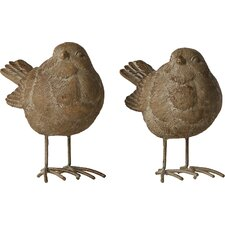 2-tlg. 2-tlg. Statuen-Set Little Birds