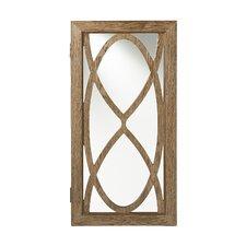 Wandmontierter Schmuckschrank Bungan mit Spiegel