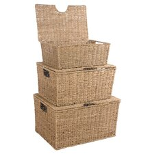 Seagrass 3 Piece Storage Basket Set
