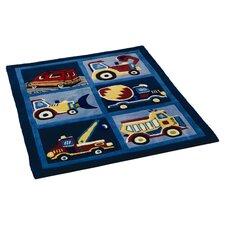 Handgewebter Teppich Chilano in Blau