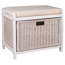 Weave Laundry Hamper Bench