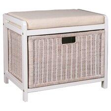 Weave Laundry Hamper Bench