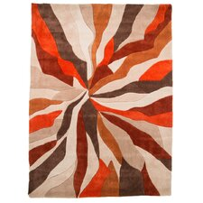 Infinite Orange Area Rug