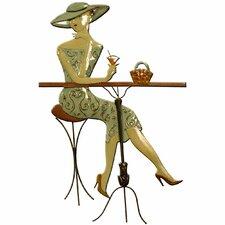 Wanddekoration Cocktail Dame